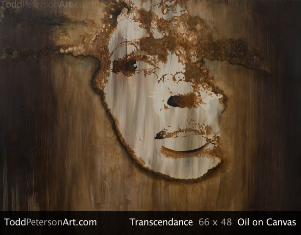 Transcendance oil on canvas painting from Todd Peterson's Passion Collection